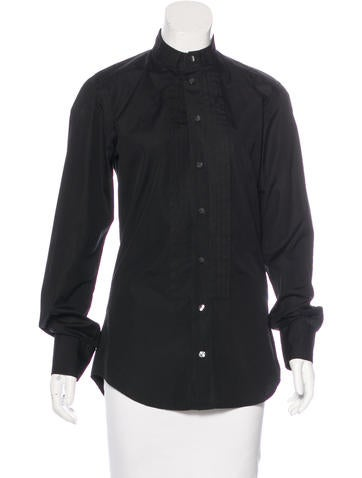Dolce & Gabbana Long Sleeve Button-Up Top None