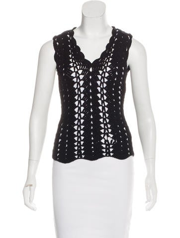 Dolce & Gabbana Virgin Wool Sleeveless Sweater None