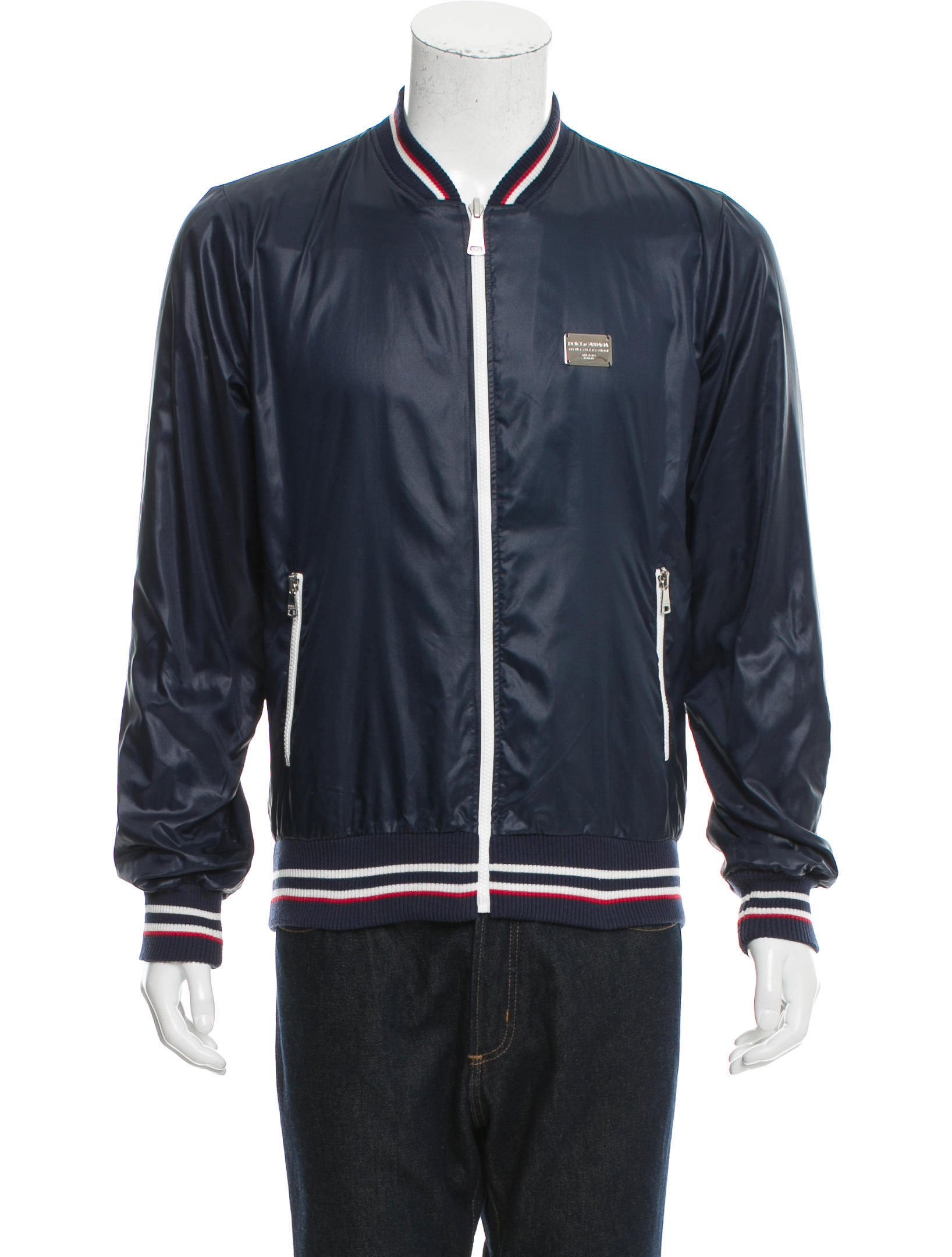 dolce gabbana windbreaker bomber jacket clothing dag82657 the realreal. Black Bedroom Furniture Sets. Home Design Ideas