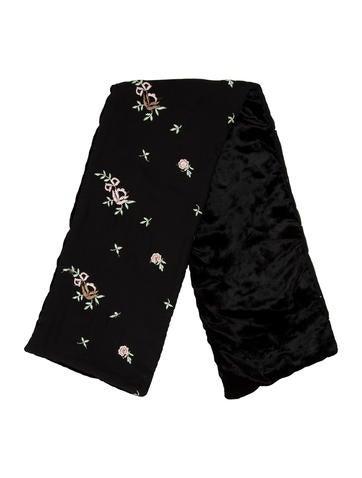 Dolce & Gabbana Floral-Accented Silk Scarf None