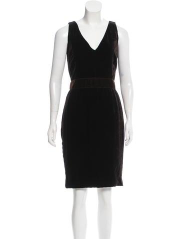Dolce & Gabbana Velvet Knee-Length Dress None