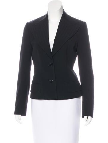 Dolce & Gabbana Wool Wide-Lapel Blazer None
