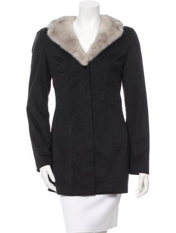 Dolce & Gabbana Wool Fur-Trimmed Coat None