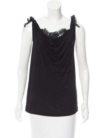 Dolce & Gabbana Draped Sleeveless Top None