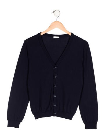 Dolce & Gabbana Girls' V-Neck Button-Up Cardigan None
