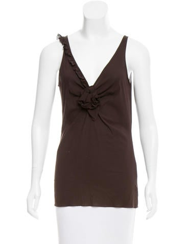 Dolce & Gabbana Sleeveless V-Neck Top None