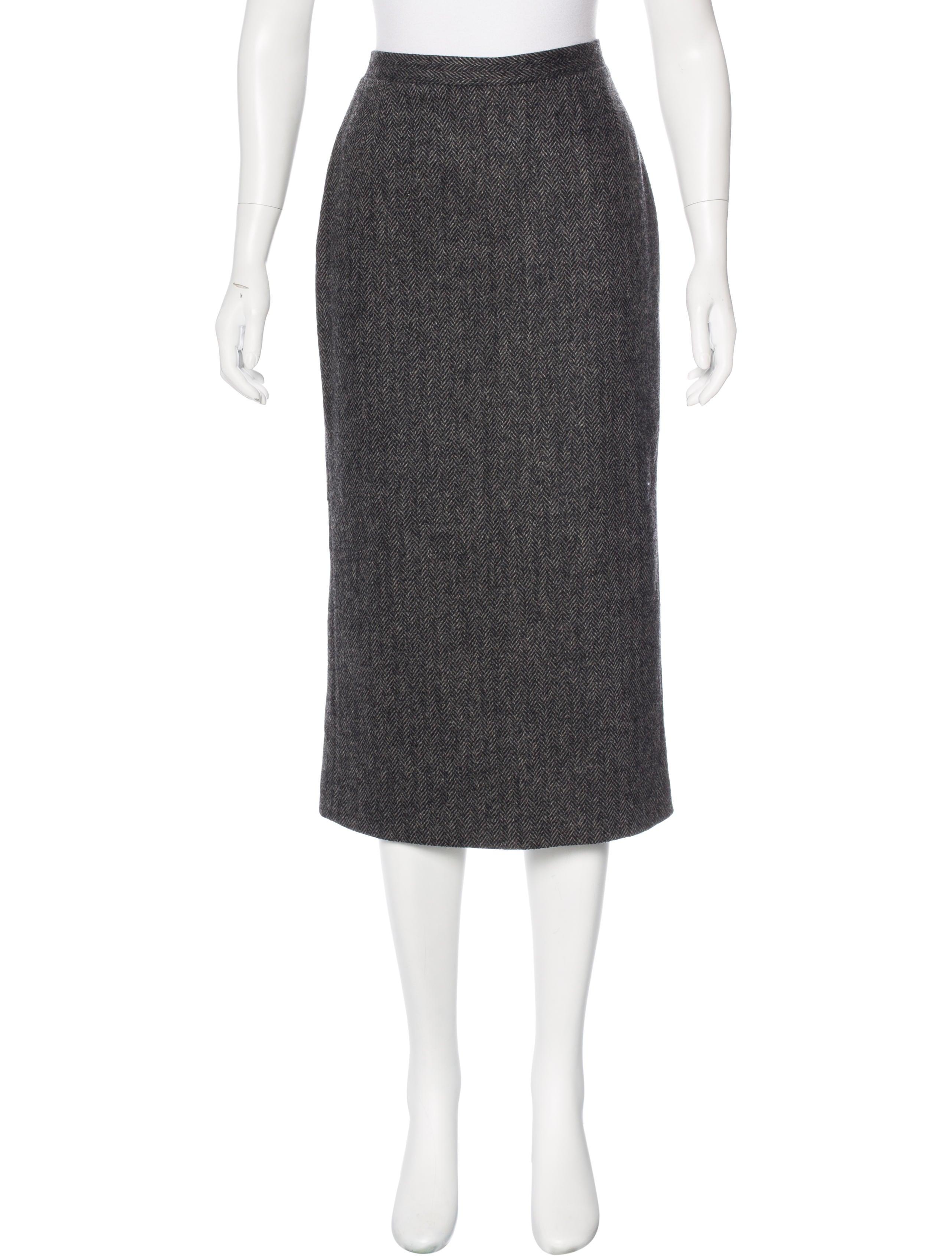 dolce gabbana wool midi skirt clothing dag84006
