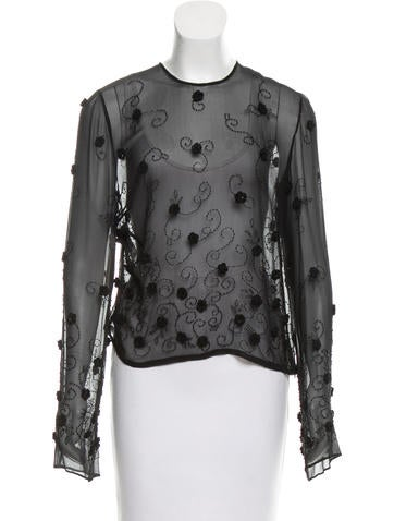 Dolce & Gabbana Embellished Silk Top w/ Tags None