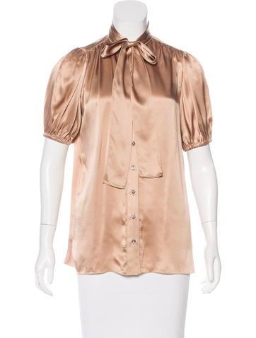 Dolce & Gabbana Short Sleeve Button-Up Top None