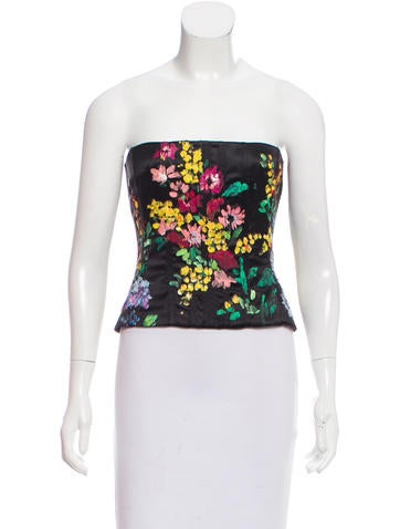 Dolce & Gabbana Silk Bustier Top w/ Tags None