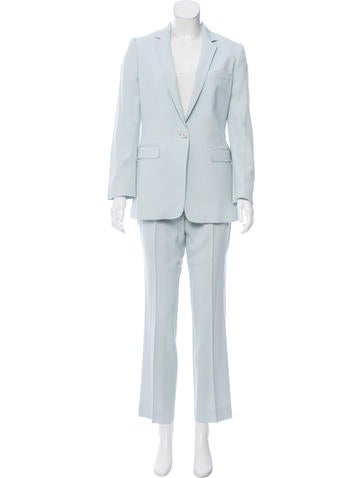 Dolce & Gabbana Wool-Blend Low-Rise Pantsuit None