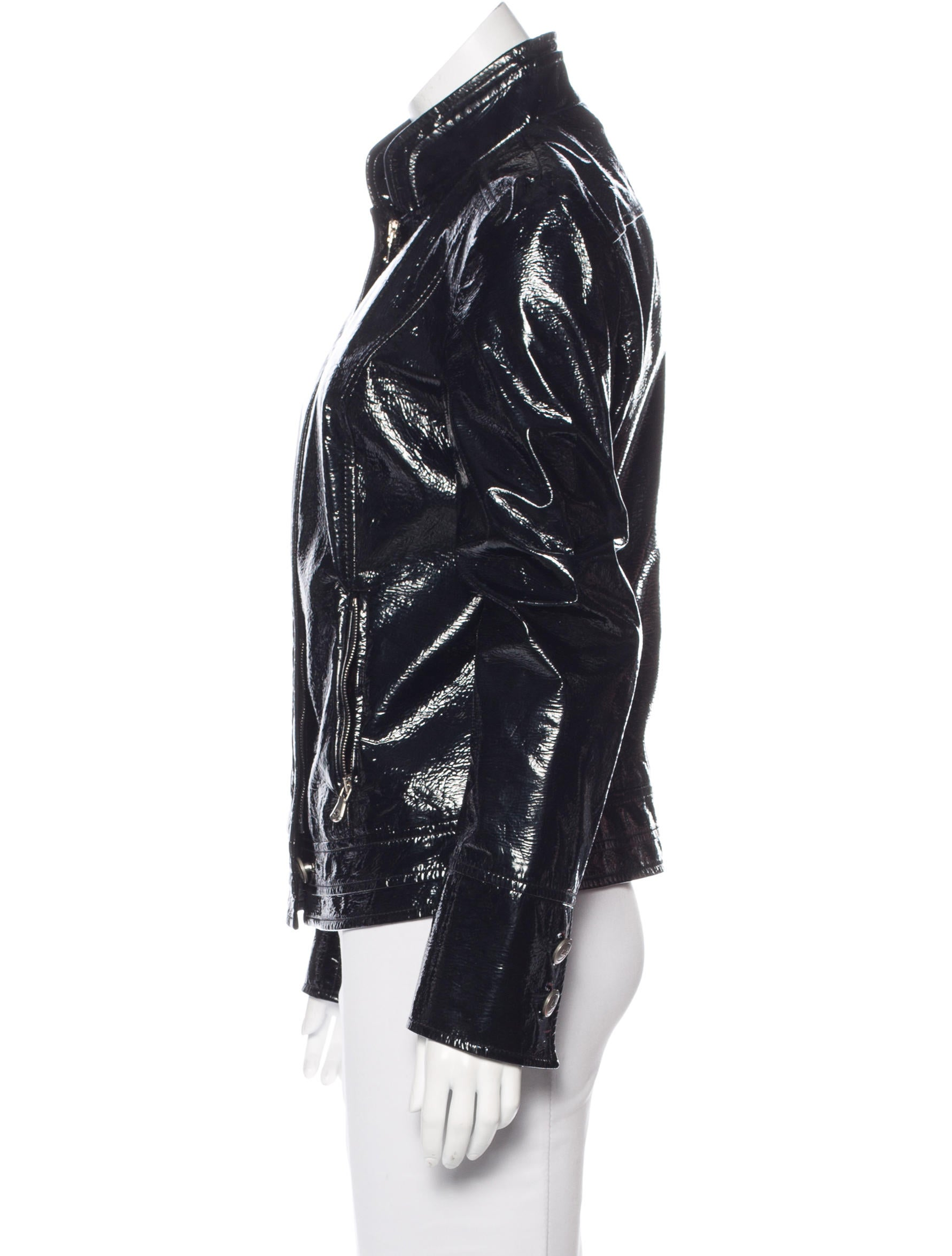 Dolce Amp Gabbana Vinyl Biker Jacket Clothing Dag85100