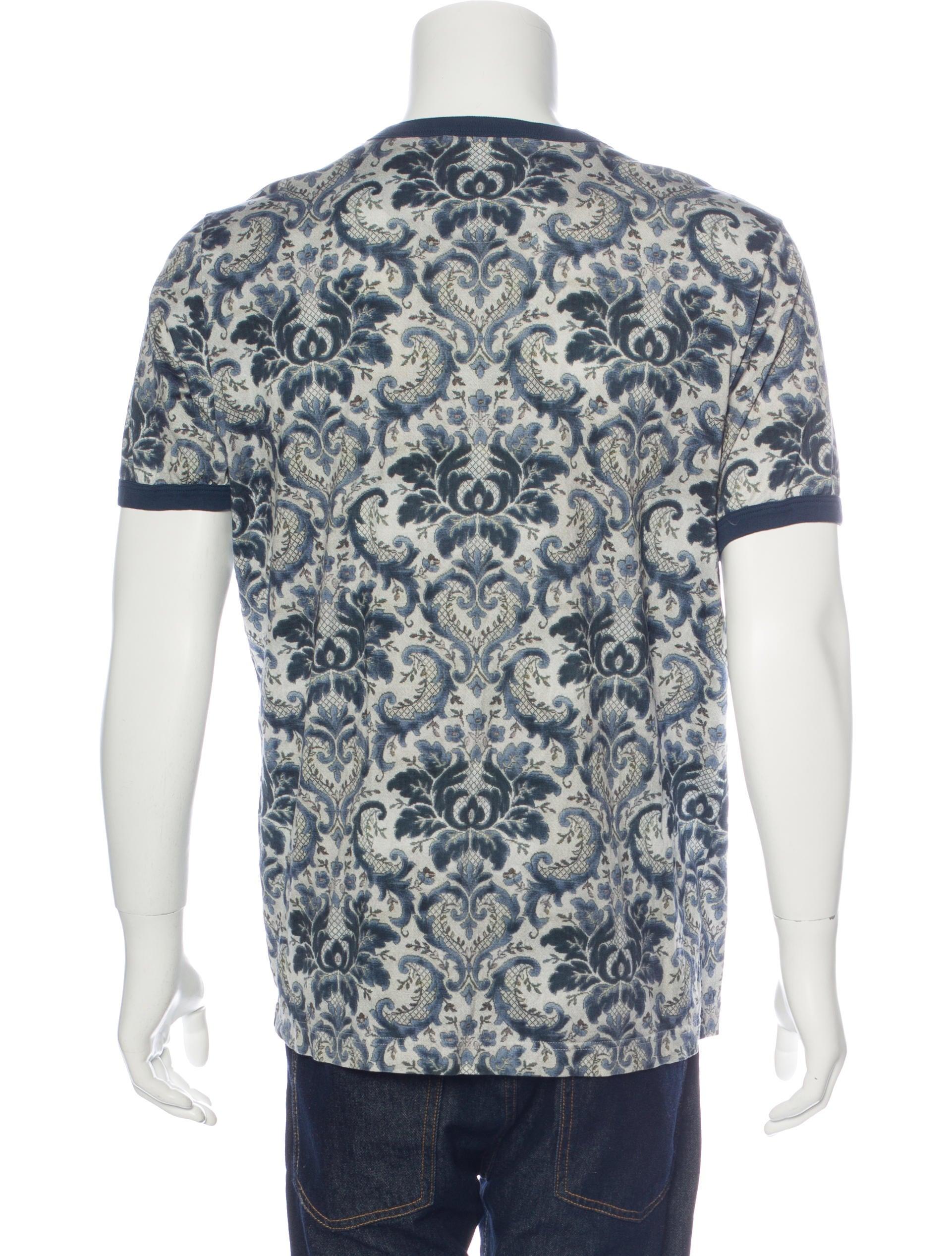Dolce gabbana ikat print t shirt clothing dag85274 for Dolce and gabbana printed t shirts