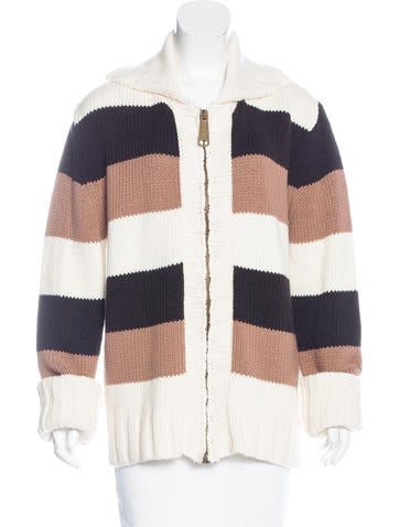 Dolce & Gabbana Wool-Blend Striped Cardigan None