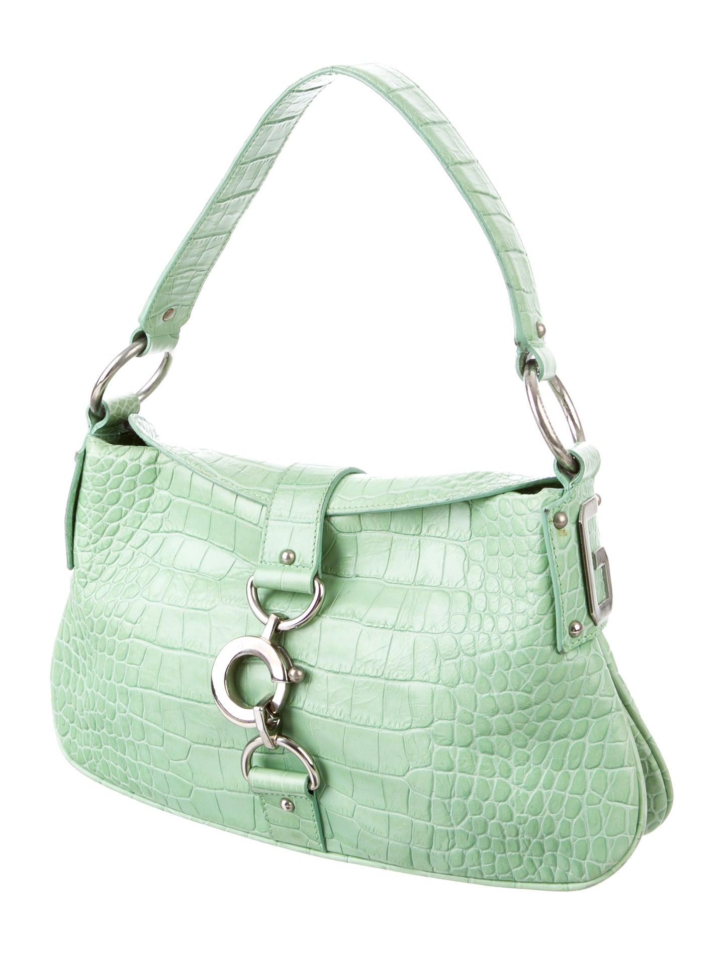 Dolce Amp Gabbana Crocodile Handle Bag Handbags Dag85371