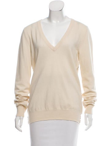 Dolce & Gabbana Embellished Cashmere Sweater None