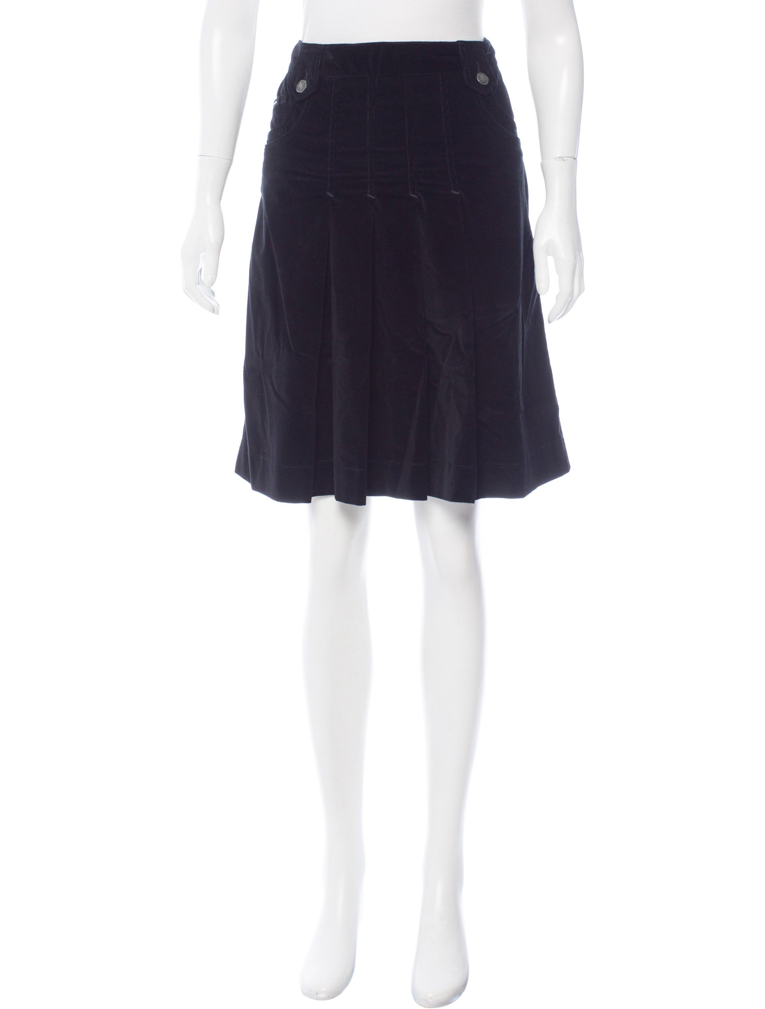 dolce gabbana corduroy a line skirt clothing