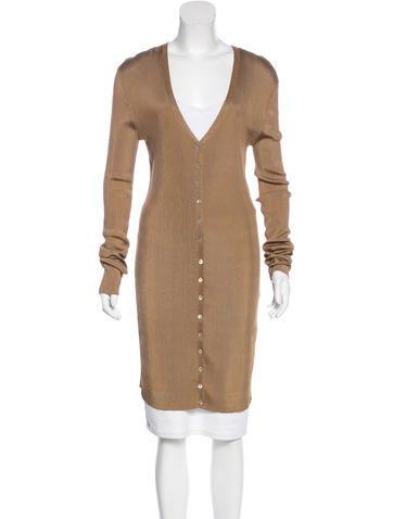 Dolce & Gabbana Long Sleeve Knit Dress None