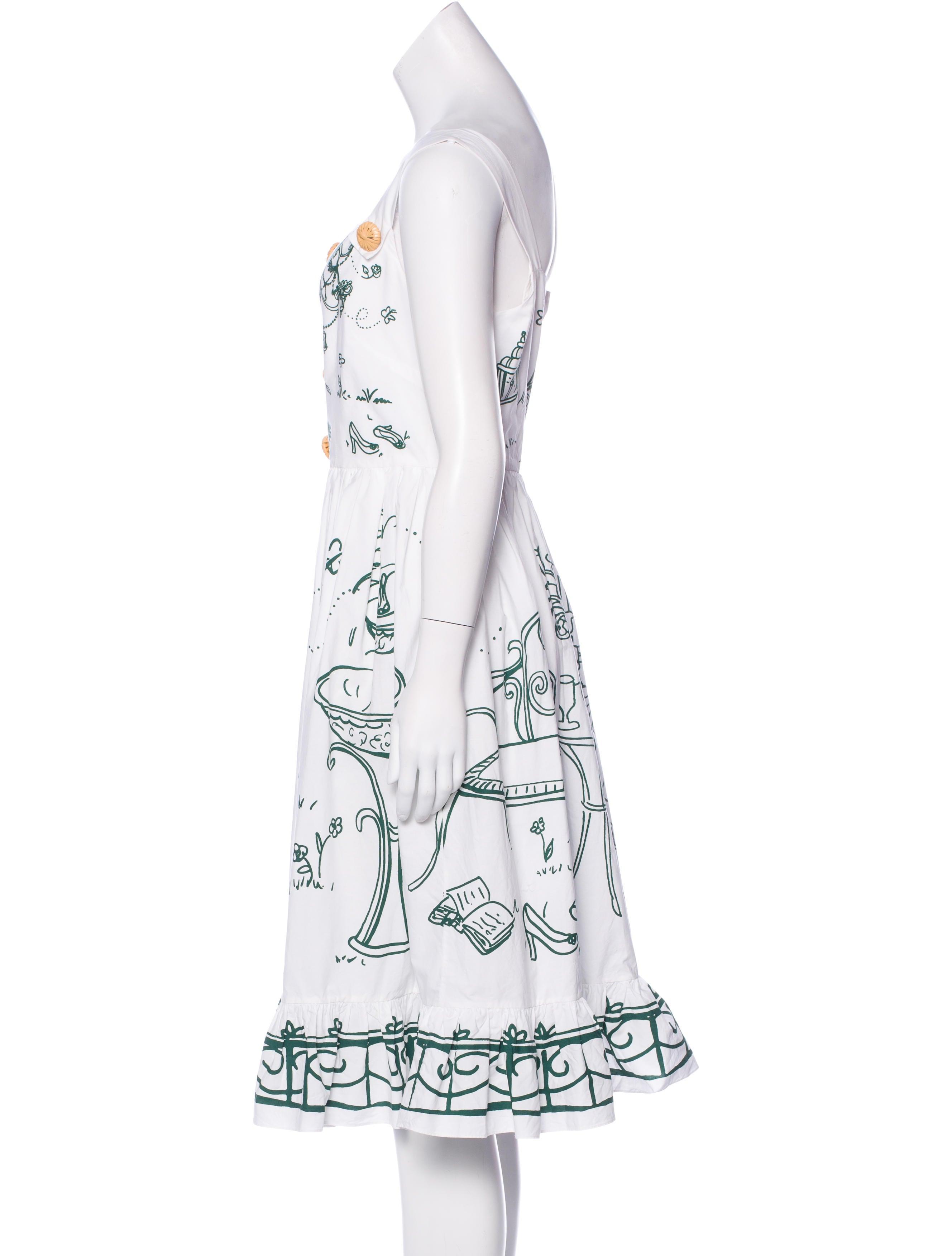 Dolce Gabbana 2016 Garden Print Dress Clothing Dag85594 The Realreal