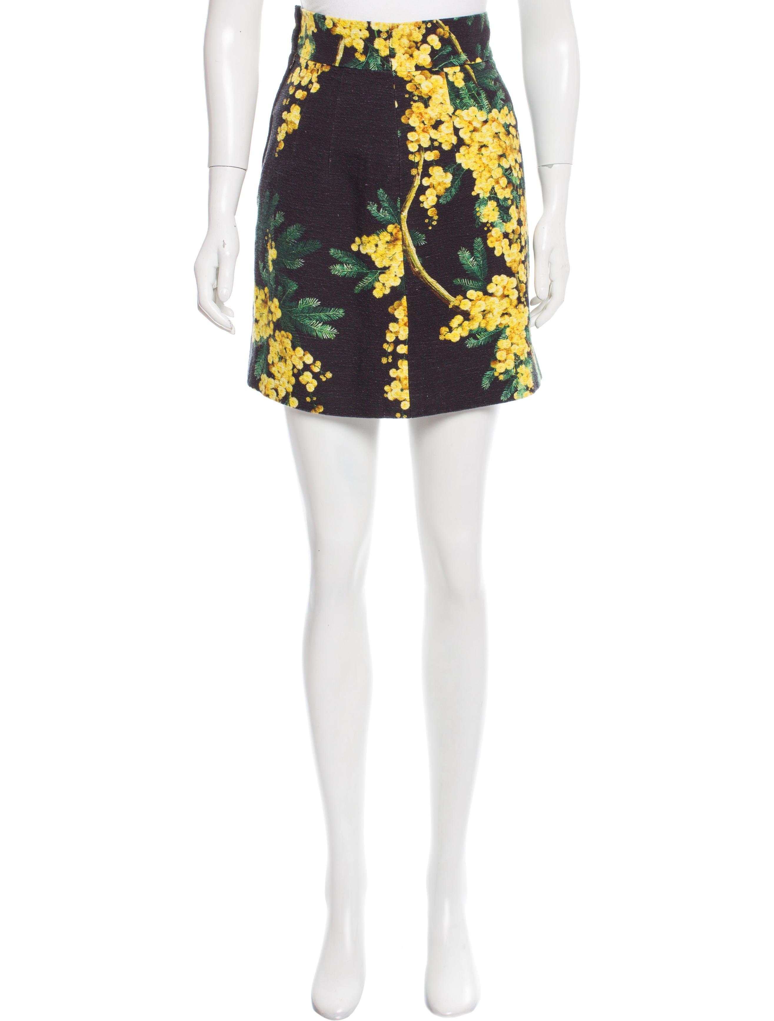 dolce amp gabbana floral mini skirt clothing dag85659