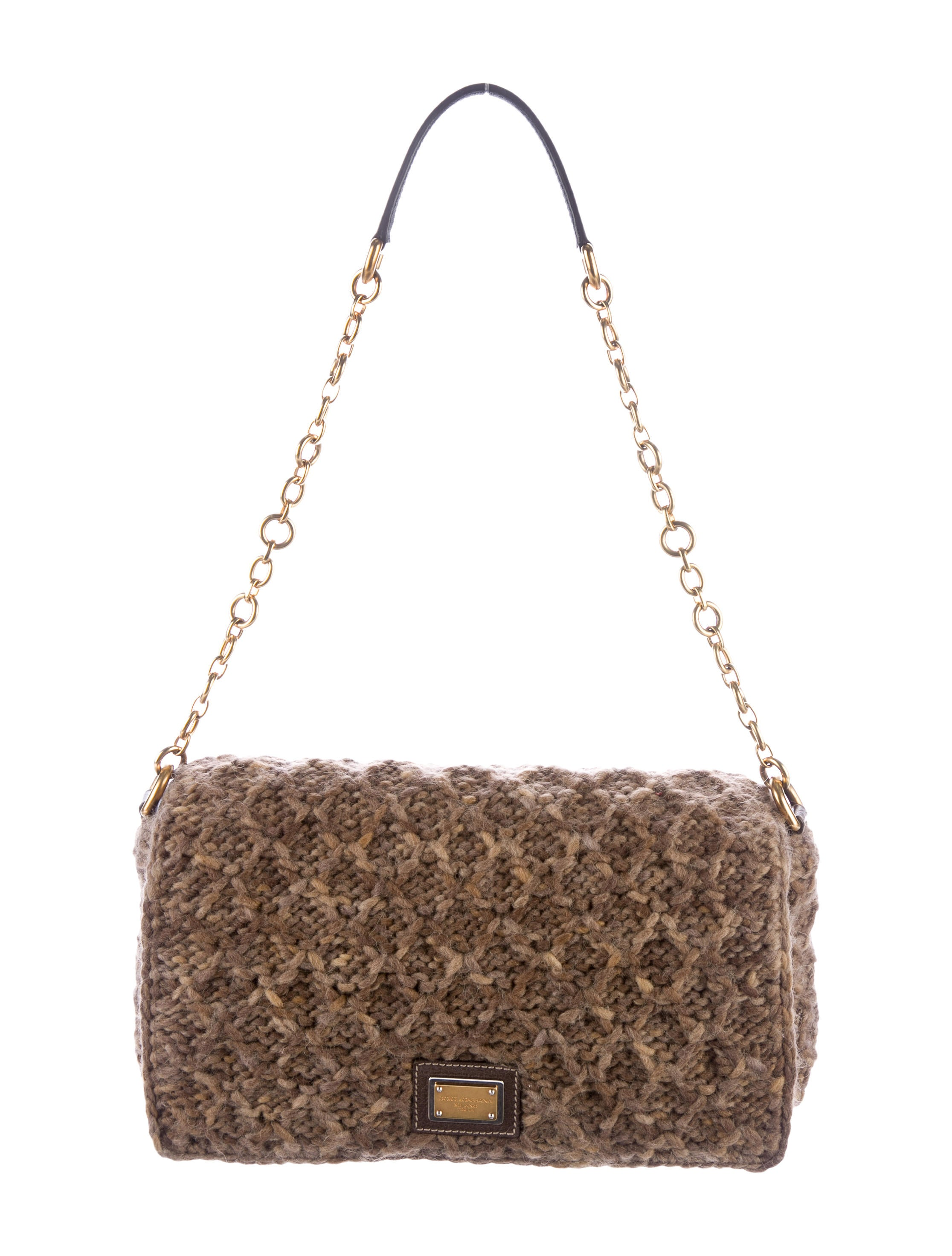 Dolce Amp Gabbana Crochet Shoulder Bag Handbags Dag85722