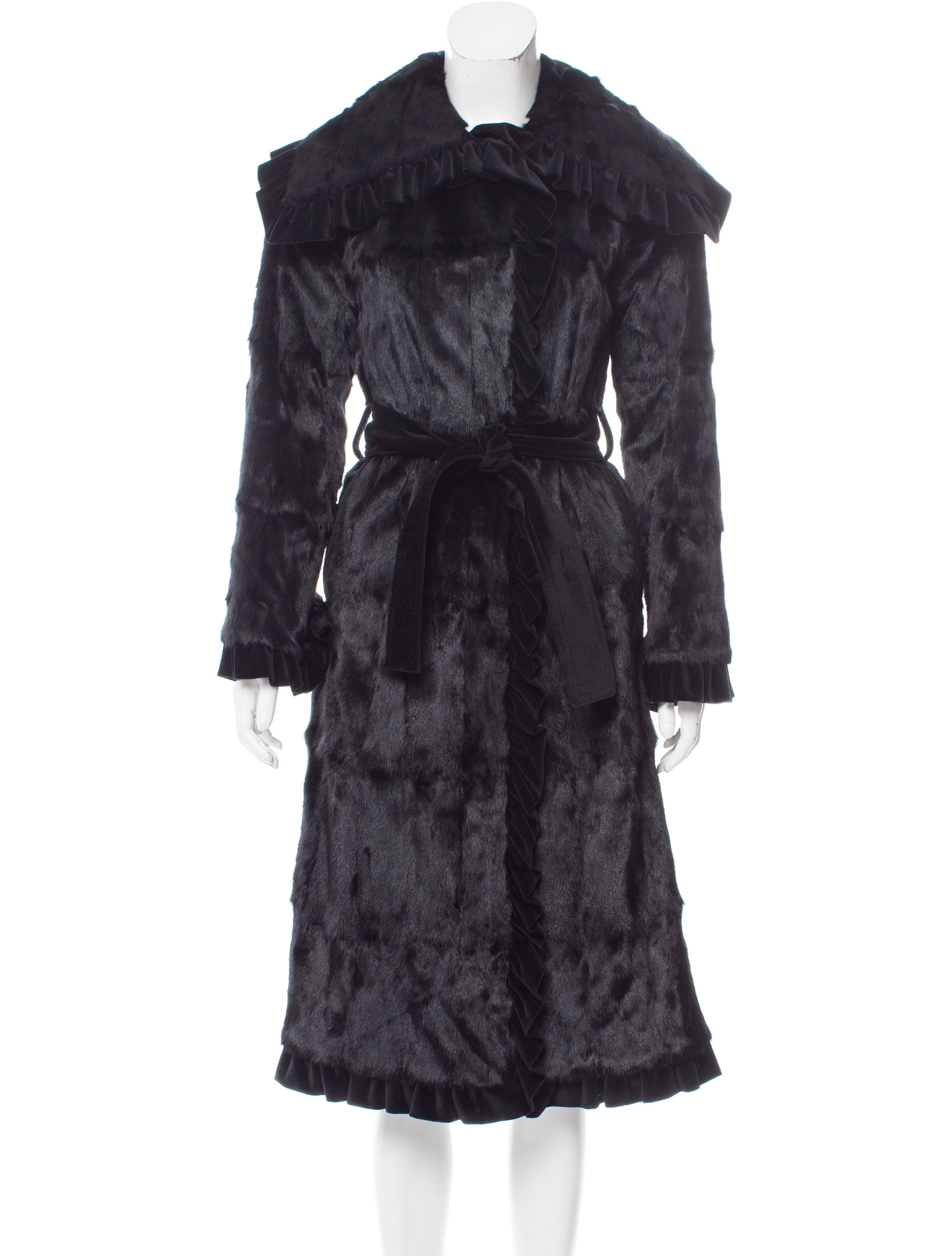Dolce Amp Gabbana Fur Full Length Coat Clothing Dag85970