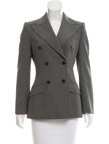 Dolce & Gabbana Wool Double-Breasted Jacket None