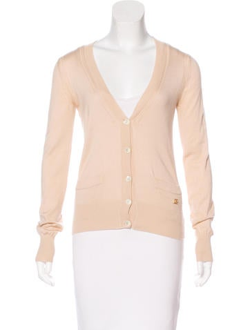 Dolce & Gabbana Long Sleeve V-Neck Cardigan None