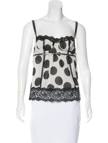 Dolce & Gabbana Silk Bustier-Accented Top None