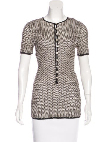 Dolce & Gabbana Knit Button-Up Top None