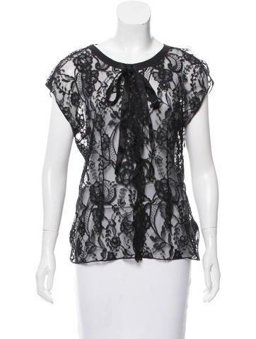 Dolce & Gabbana Sleeveless Lace Top None