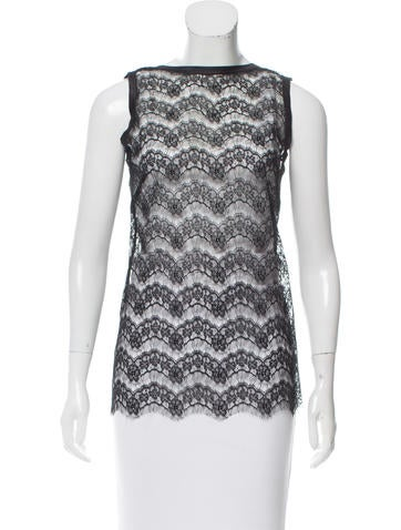 Dolce & Gabbana Sleeveless Lace Top None