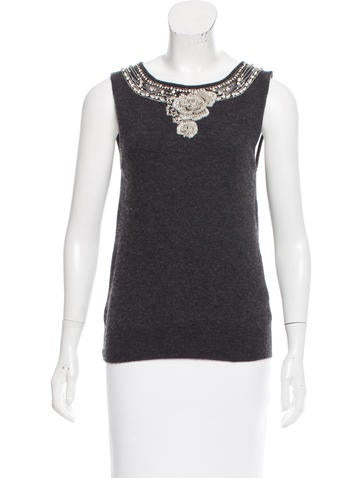 Dolce & Gabbana Embellished Knit Top None