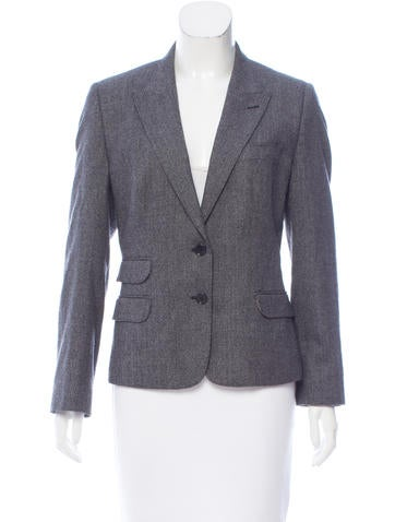 Dolce & Gabbana Virgin Wool Two-Button Blazer None