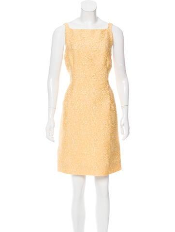 Dolce & Gabbana Sleeveless Matelassé Dress w/ Tags None