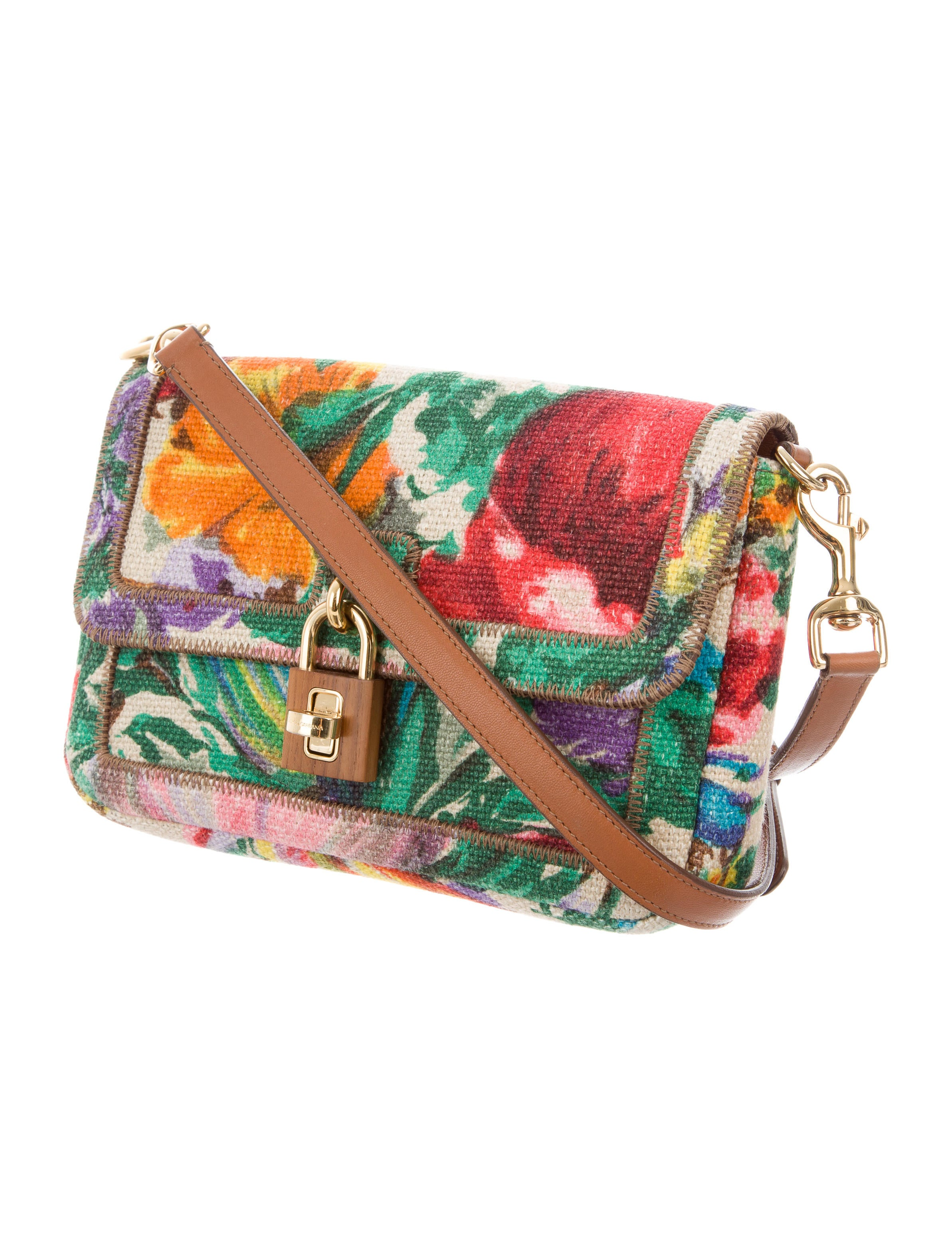Dolce U0026 Gabbana Floral Print Canvas Crossbody Bag - Handbags - DAG86634 | The RealReal