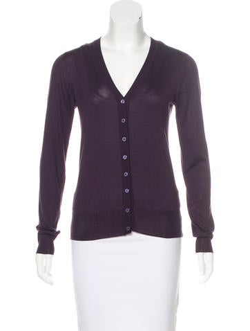 Dolce & Gabbana Silk V-Neck Cardigan None