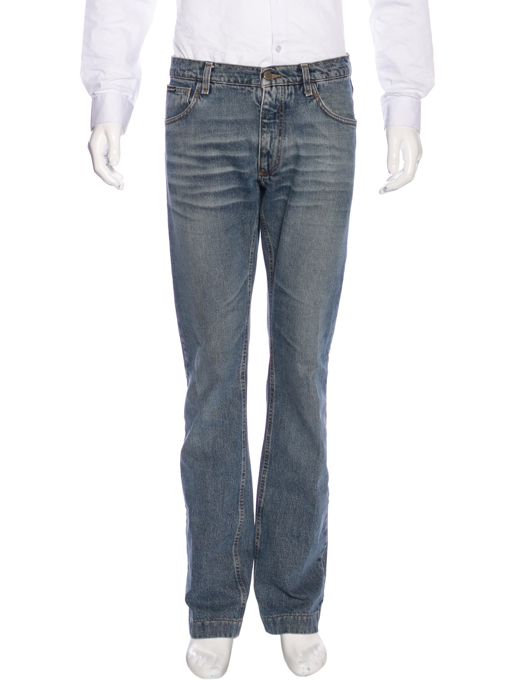 dolce gabbana five pocket straight leg jeans clothing dag86803 the realreal. Black Bedroom Furniture Sets. Home Design Ideas