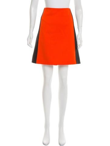 Dolce & Gabbana Wool Colorblock Skirt None