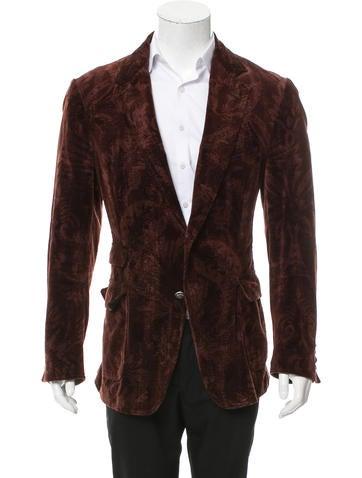Dolce & Gabbana Velvet Patterned Blazer None