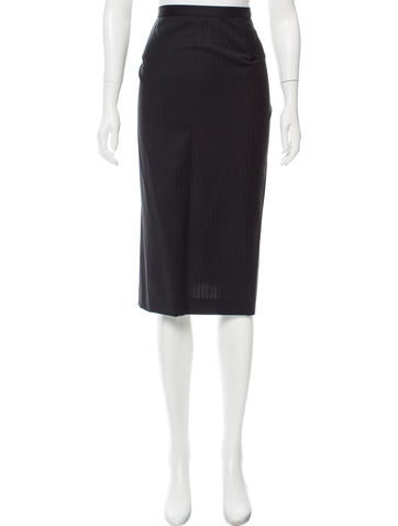Dolce & Gabbana Pinstriped Wool Skirt None