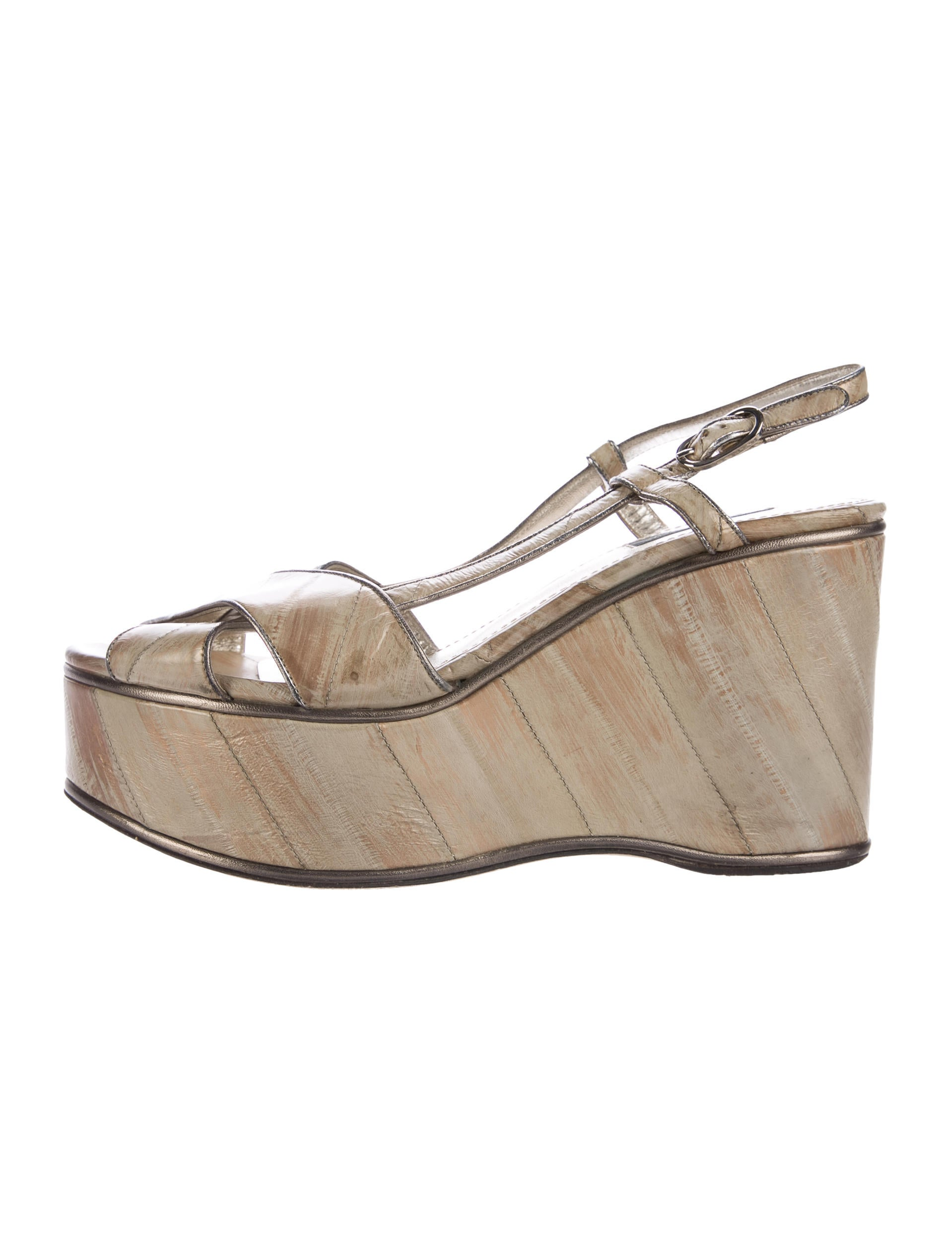 Dolce & Gabbana Eel Wedge Sandals cheap for sale cheapest price for sale best prices cheap price with mastercard for sale comfortable for sale KQ7Q5