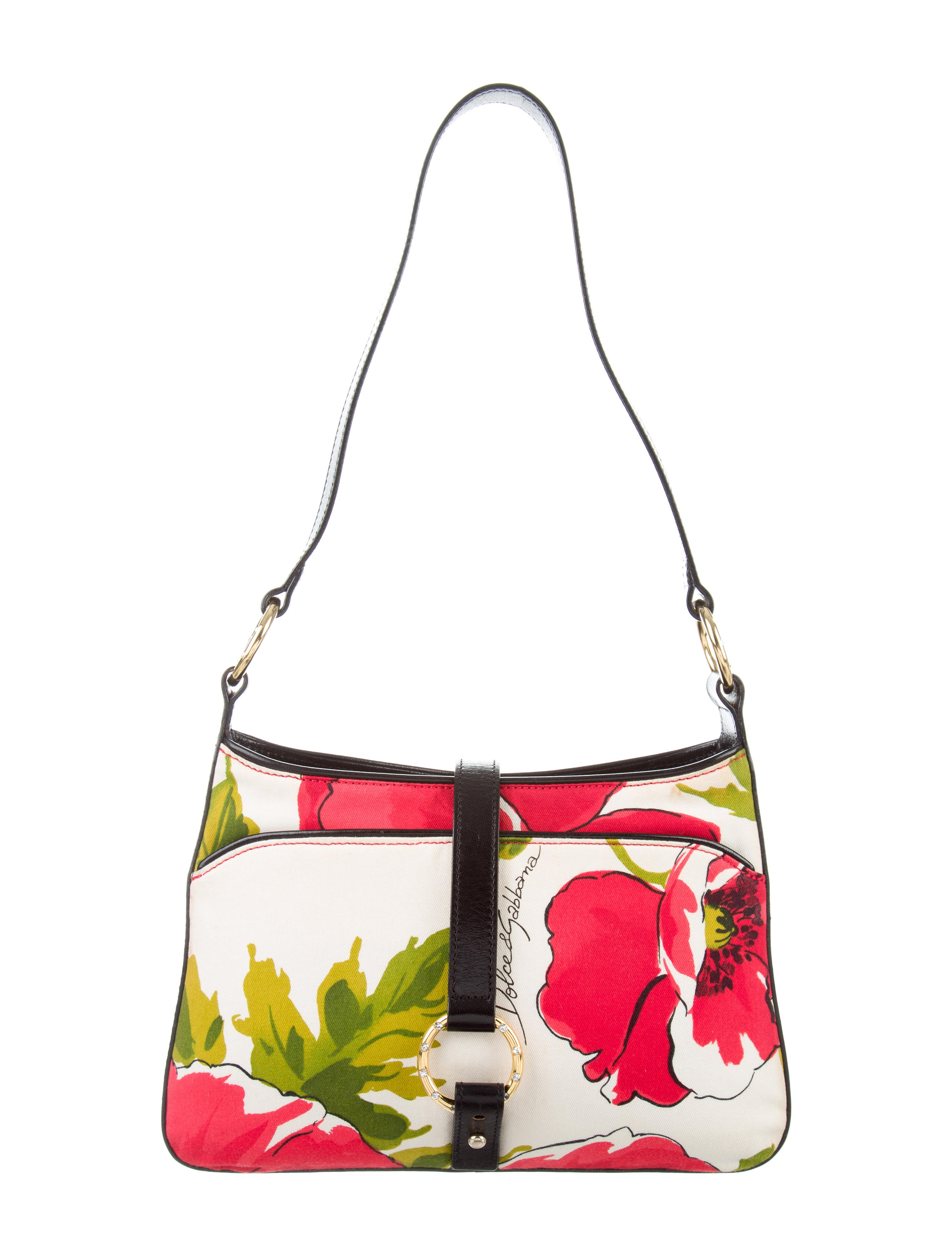 Dolce U0026 Gabbana Floral Print Shoulder Bag - Handbags - DAG87459 | The RealReal