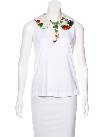 Dolce & Gabbana Embellished Sleeveless Top w/ Tags None