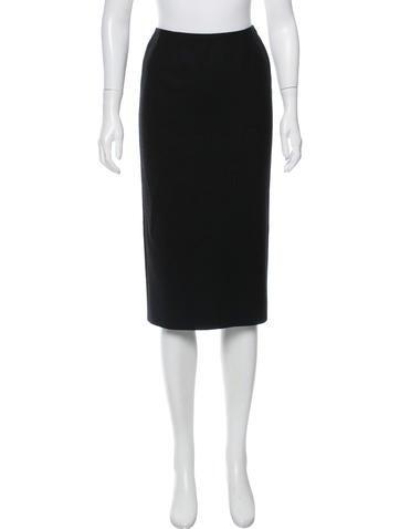 Dolce & Gabbana Wool Pencil Skirt None