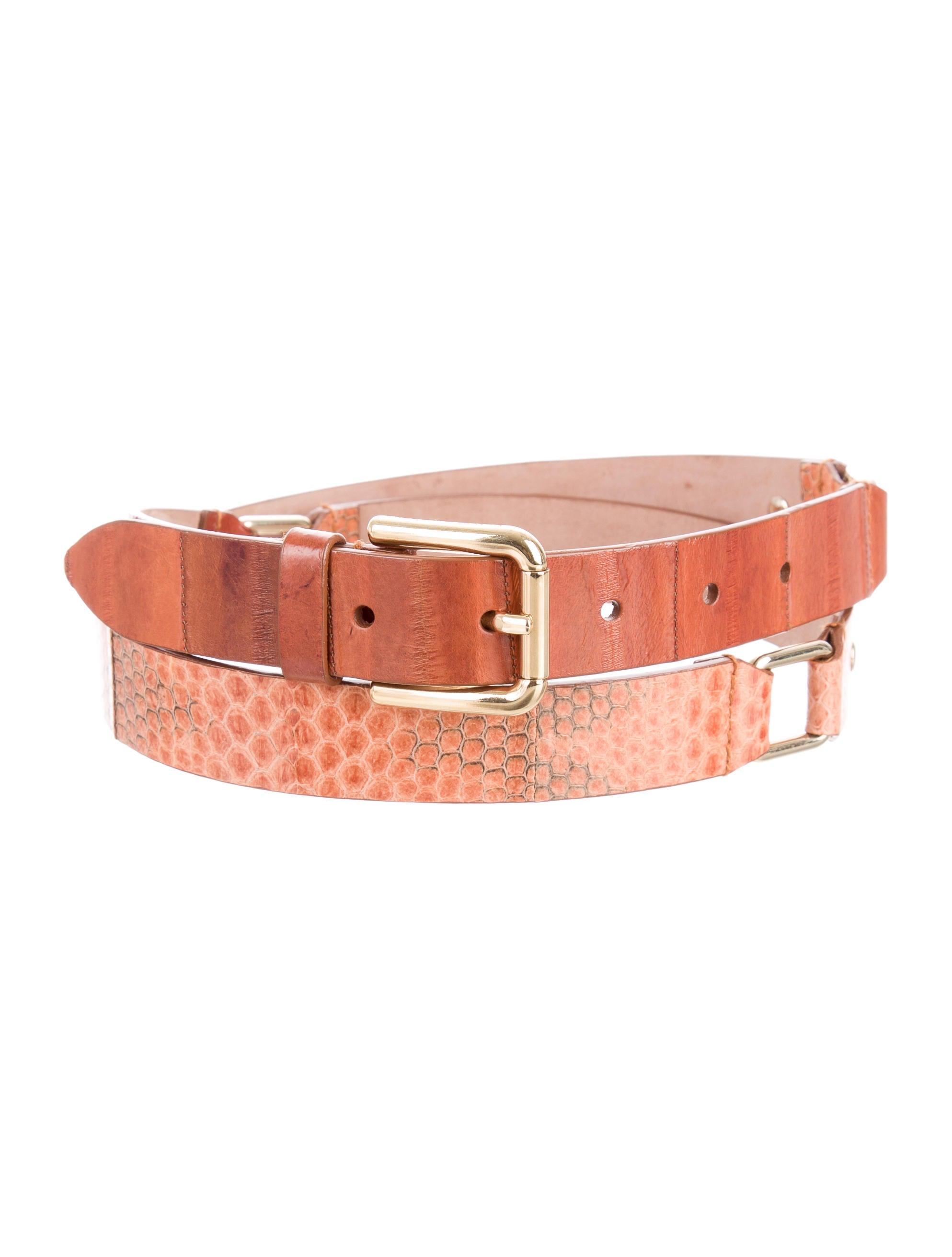 2268af49a435 Dolce   Gabbana Eel Skin   Snakeskin Belt - Accessories - DAG87566 ...