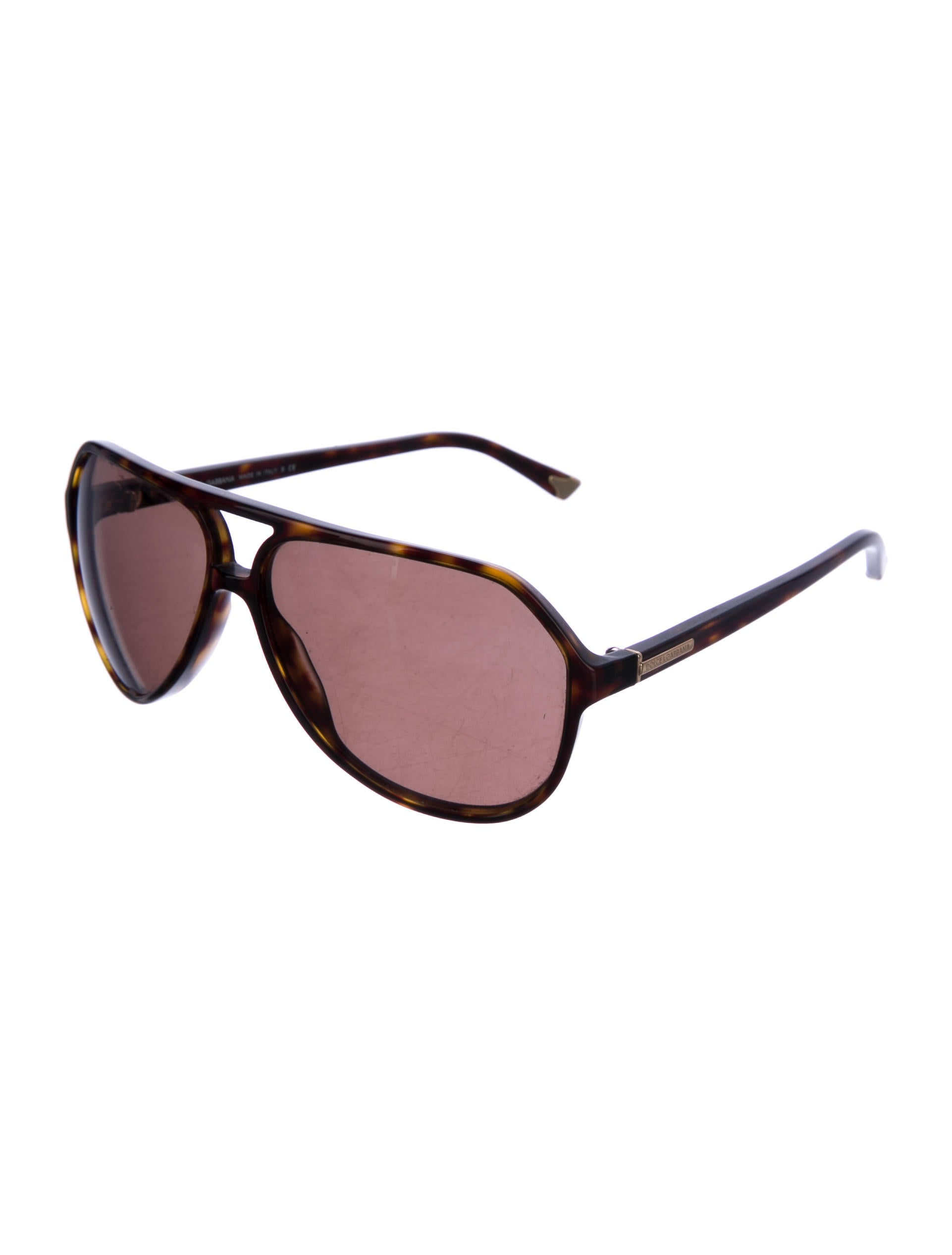 e8bbfa4d41dd Dolce   Gabbana Aviator Sunglasses Brown