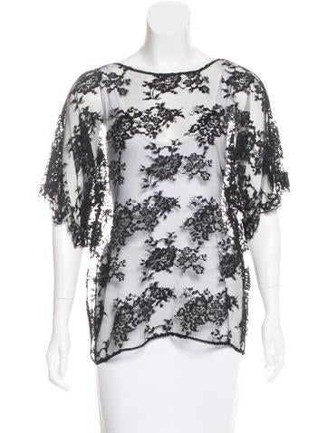 Dolce & Gabbana Lace Short Sleeve Top w/ Tags None