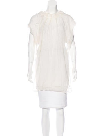 Dolce & Gabbana Silk-Accented Knit Tunic None