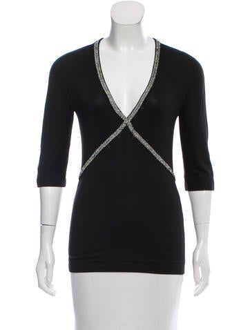 Dolce & Gabbana Embellished Long Sleeve Top None
